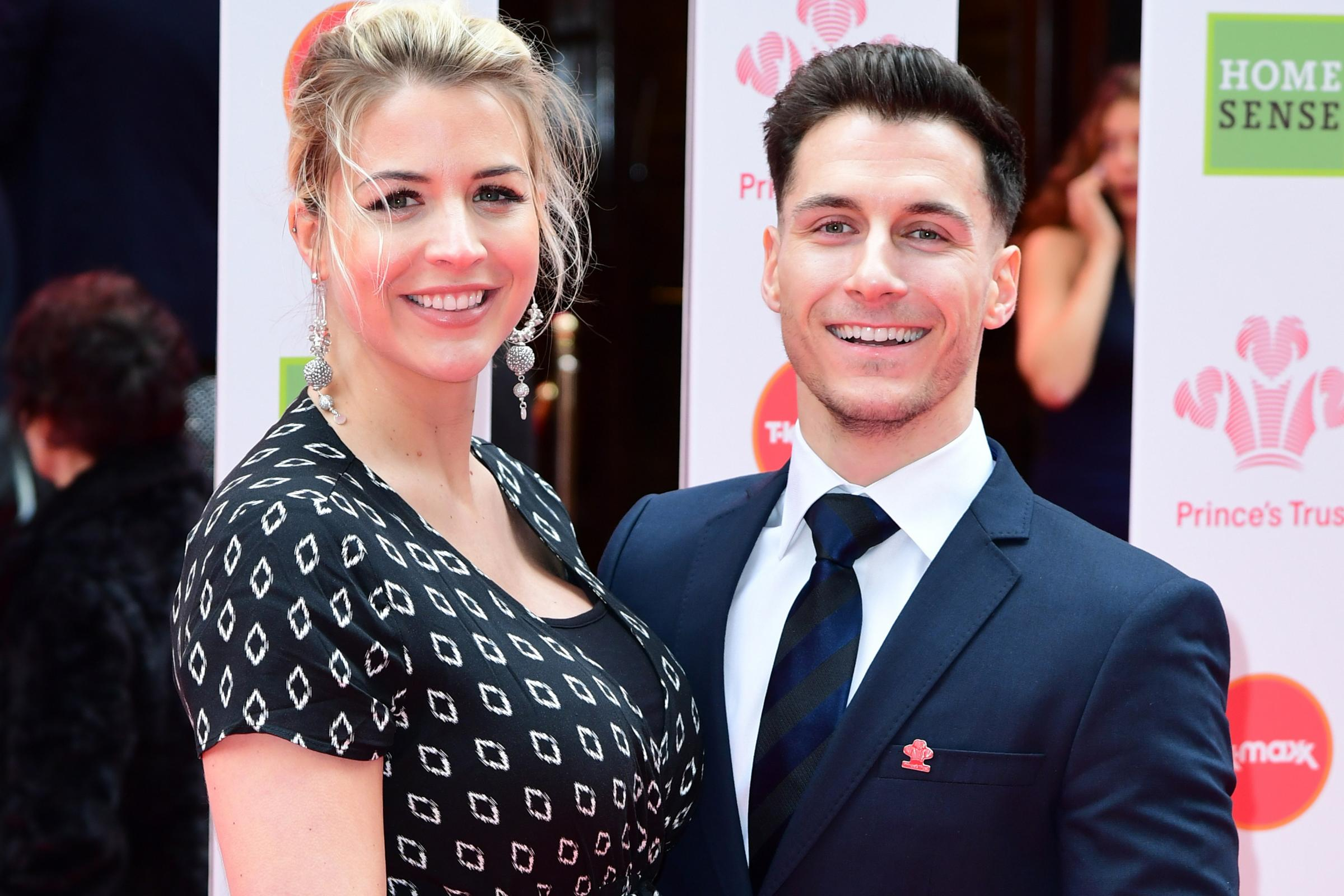 Gemma Atkinson and Gorka Marquez at the Prince's Trust Awards 2019
