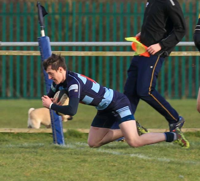 Tom Walker was among the DK try scorers against Sutton. Photo Ian Jackson.