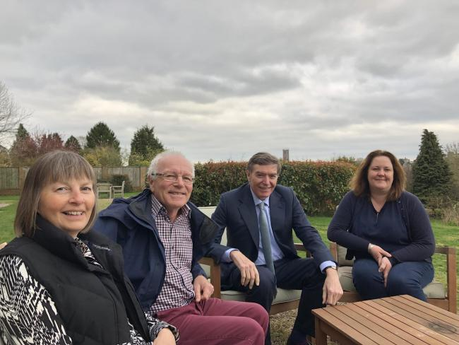 Philip Dunne MP with Whitfield House owner Sarah Astbury (right) and guests Alan and Susan