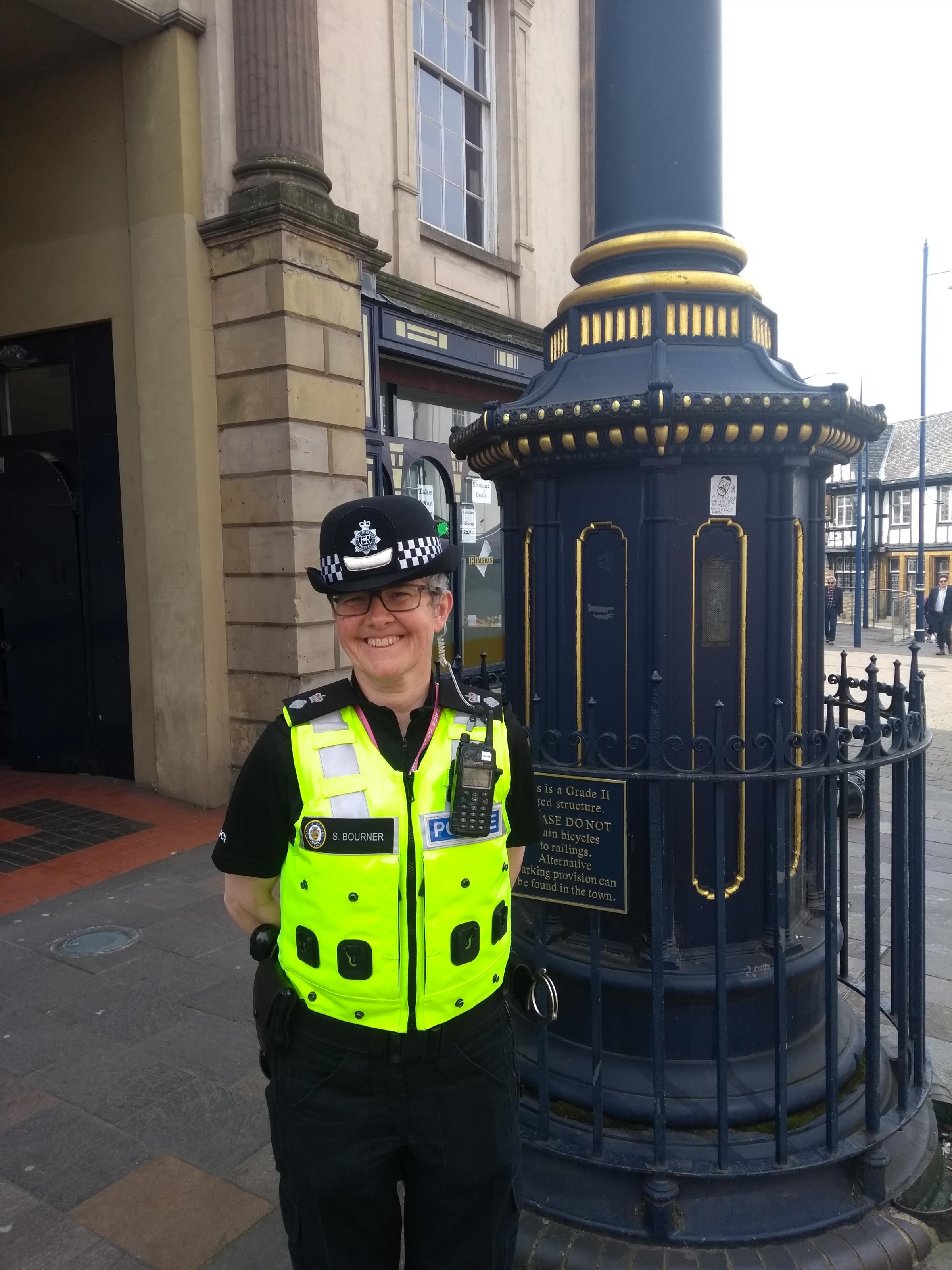 Chief Superintendent Sall Bourner pays a visit to Stourbridge town centre.