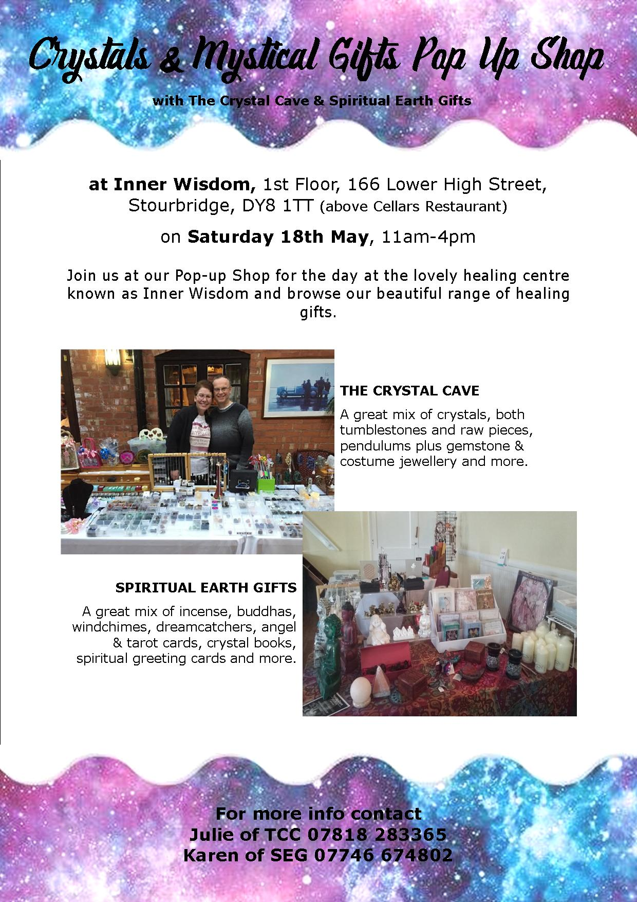 Crystals & Mystical Gifts Pop Up Shop on 18th May