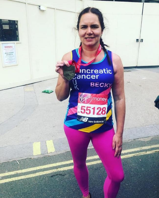 RUN: Becky Griffiths who has completed the London Marathon