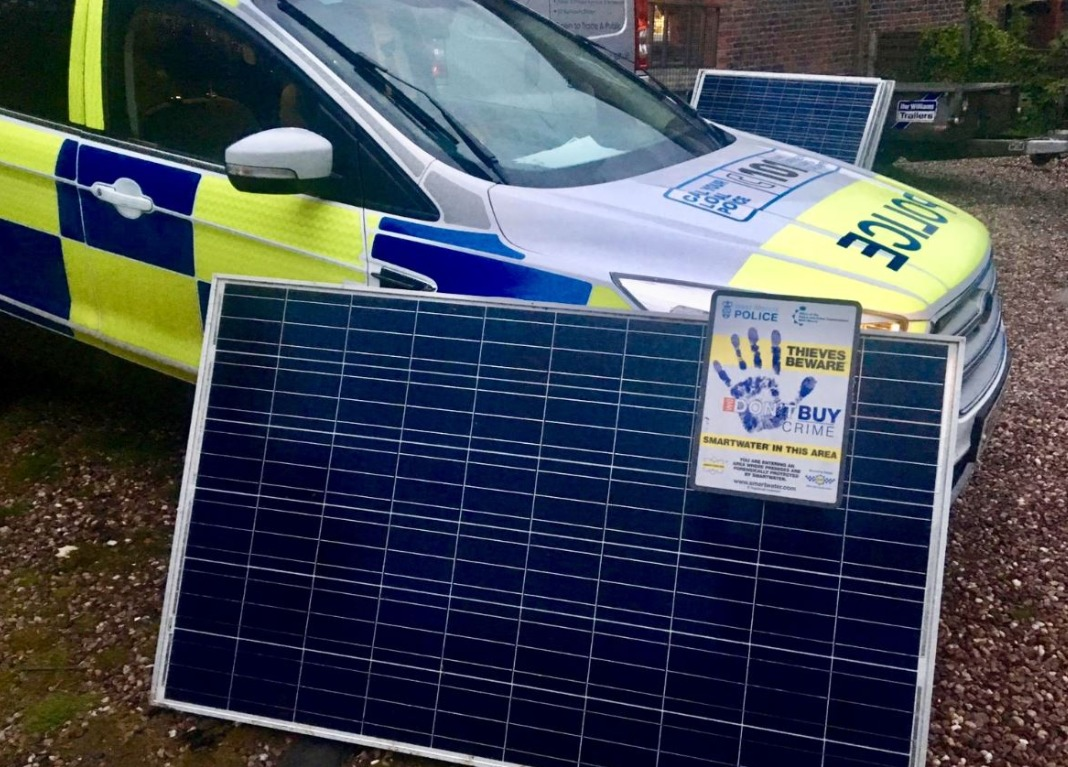 Recovered solar panels. PIC: @WMerciaPolice.