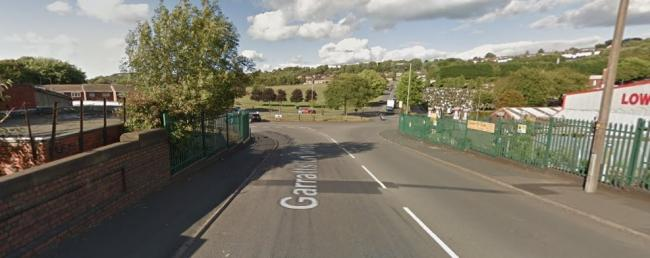 The bridge on Garratts Lane, where emergency cable repair work has caused traffic chaos. Picture: Google Maps.