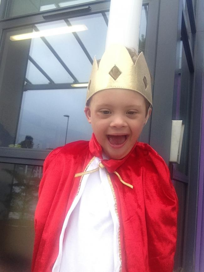 Kidderminster's own Archie Harrison dressed as a prince