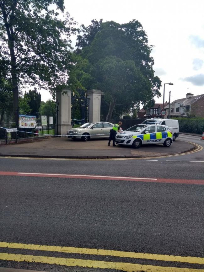 A police cordon was in place outside Mary Stevens Park on Stanley Road this morning (June 9)