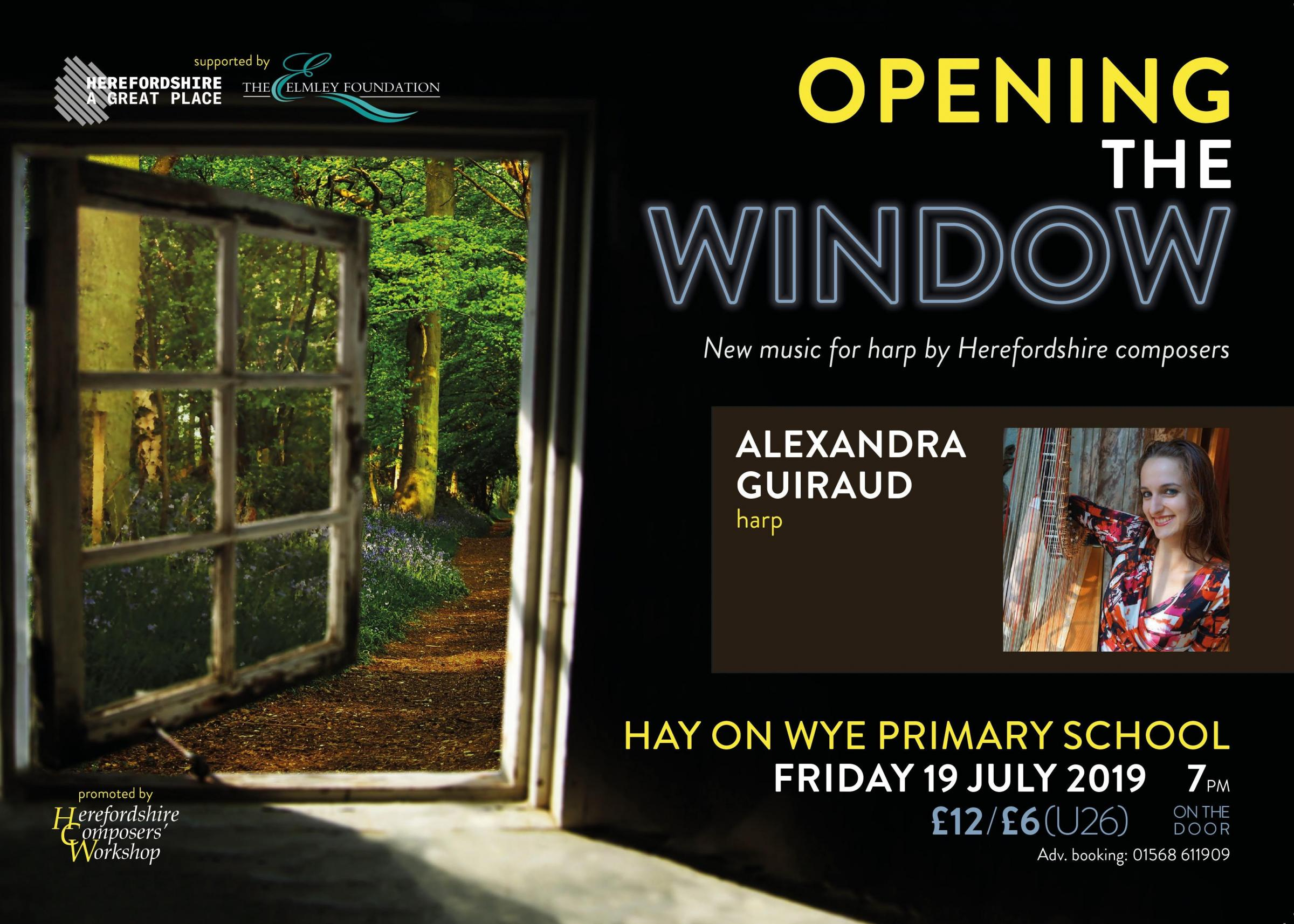 Solo Harp recital 'Opening The Window'