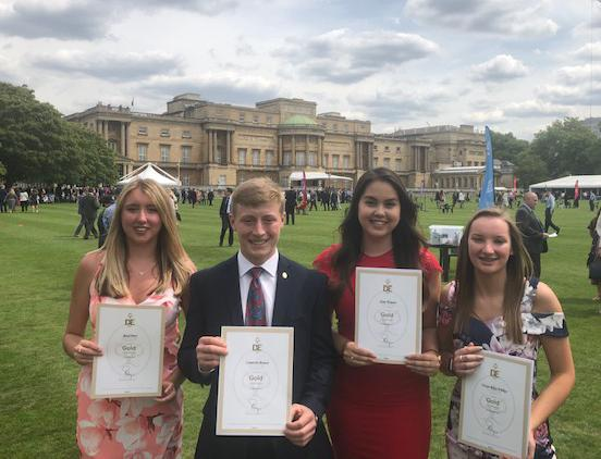 L-r - Rose Parr, Cameron Brown, Amy Waters, Taryn Wilkes with their awards