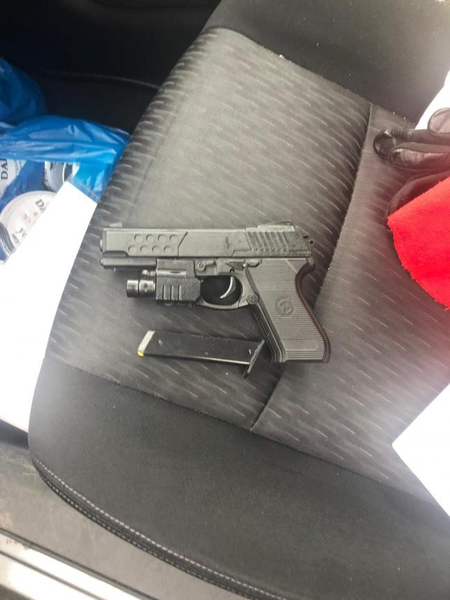 The BB gun which was pointed at a driver during a terrifying road rage incident. Pic: West Mids Police Firearms Operations Unit.